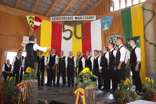 50 Jahre SR Wabelsdorf - Der MGV Poggersdorf gratuliert!